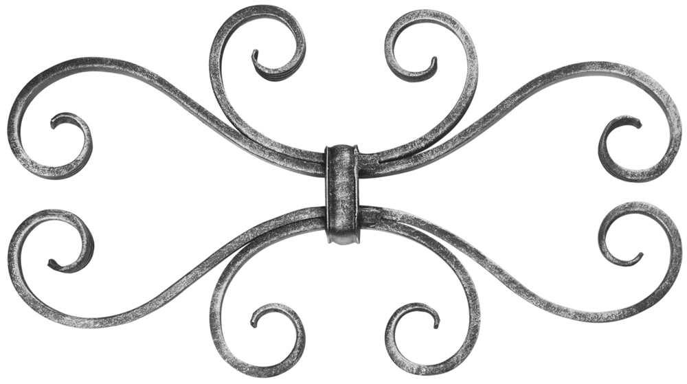 Leichtbarock   310x170 mm   Material 12x5 mm   Stahl S235JR, roh