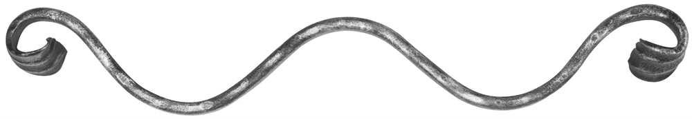 Meisterbarock 60x400 mm | Material 16x8 mm | gehämmert