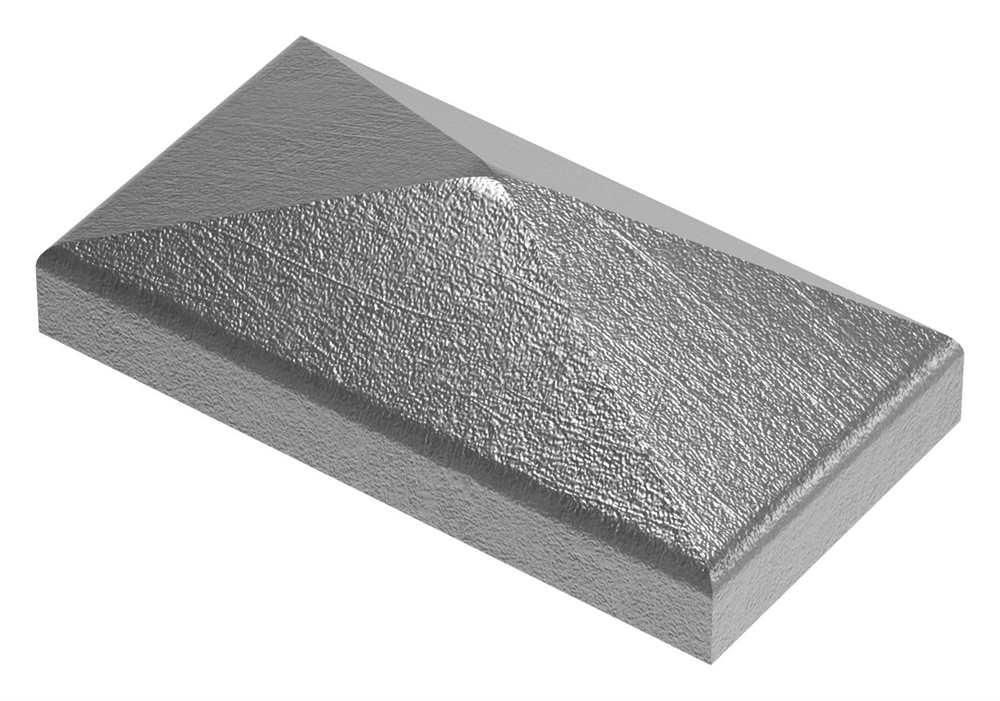 Pfeilerbedecker für Rechteckrohr | 60x30 mm | Stahl (Roh) S235JR
