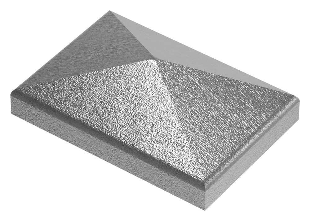 Pfeilerbedecker für Rechteckrohr | 60x40 mm | Stahl (Roh) S235JR