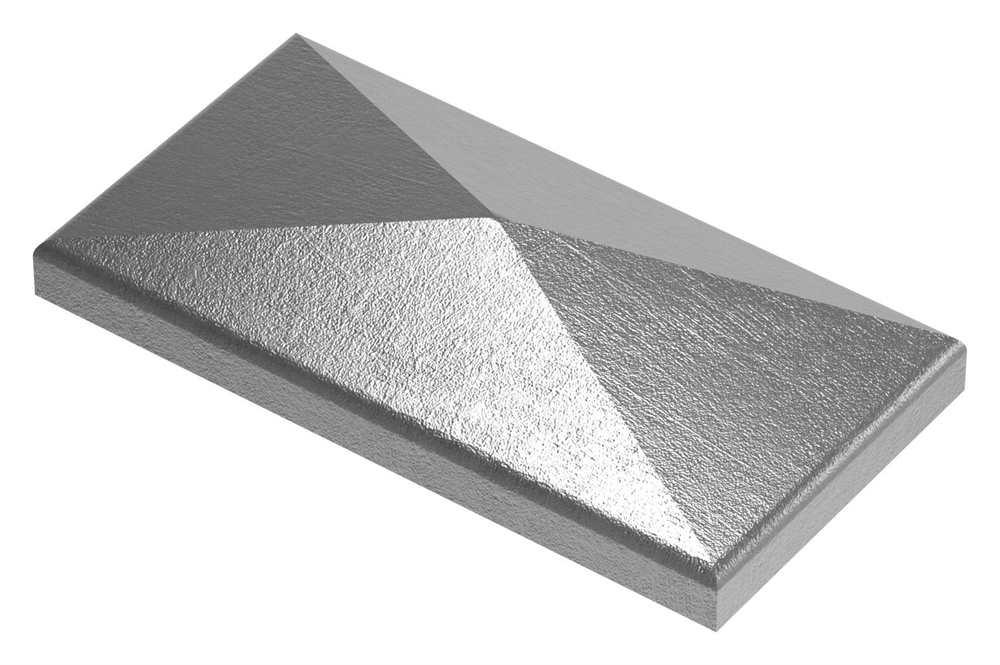 Pfeilerbedecker für Rechteckrohr | 100x50 mm | Stahl (Roh) S235JR