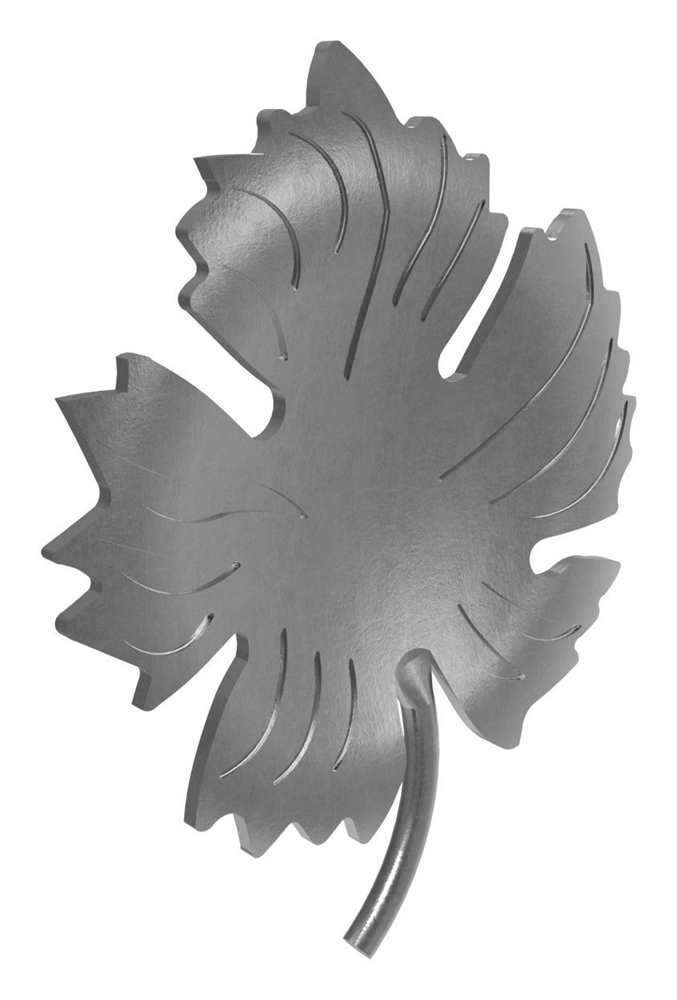 Weinornament für Anschlußmaterial 3 mm   Stahl S235JR, roh