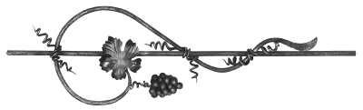 Weinornament 12 mm rund   Stahl S235JR, roh