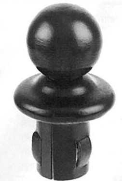 Kugelrohrknopf für Ø 48,3x2,5-2,9 mm | Stahl S235JR, roh