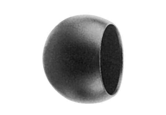 Abschlußkugel Ø 90 mm | für Ø 60,3 mm| Stahl S235JR, roh