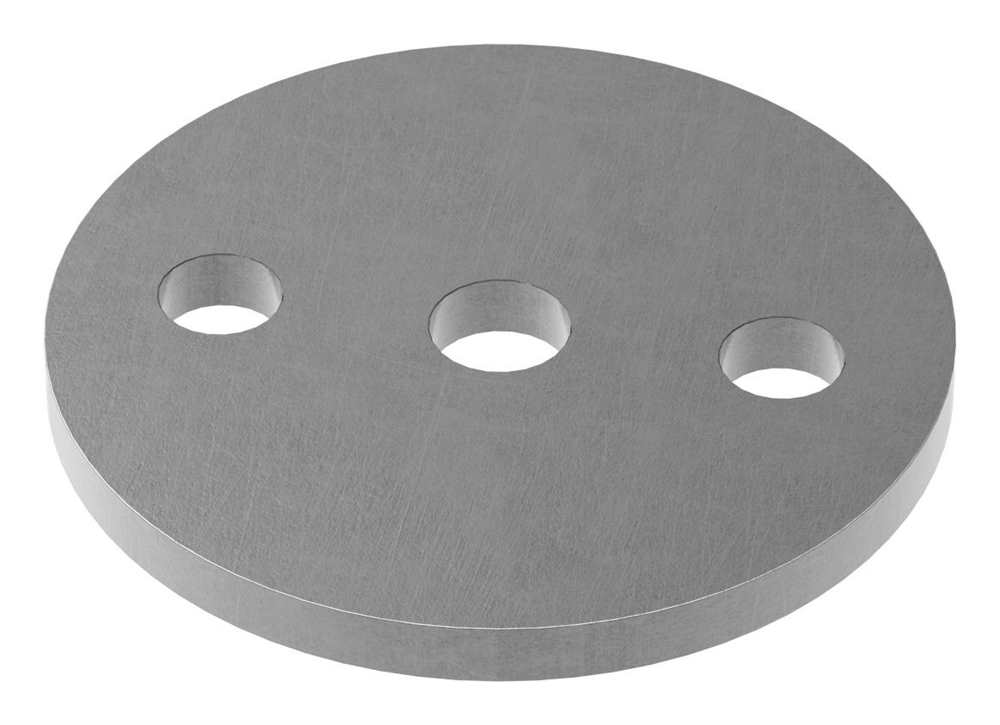 Ankerplatte   Maße: Ø 80x6 mm   Stahl (Roh) S235JR