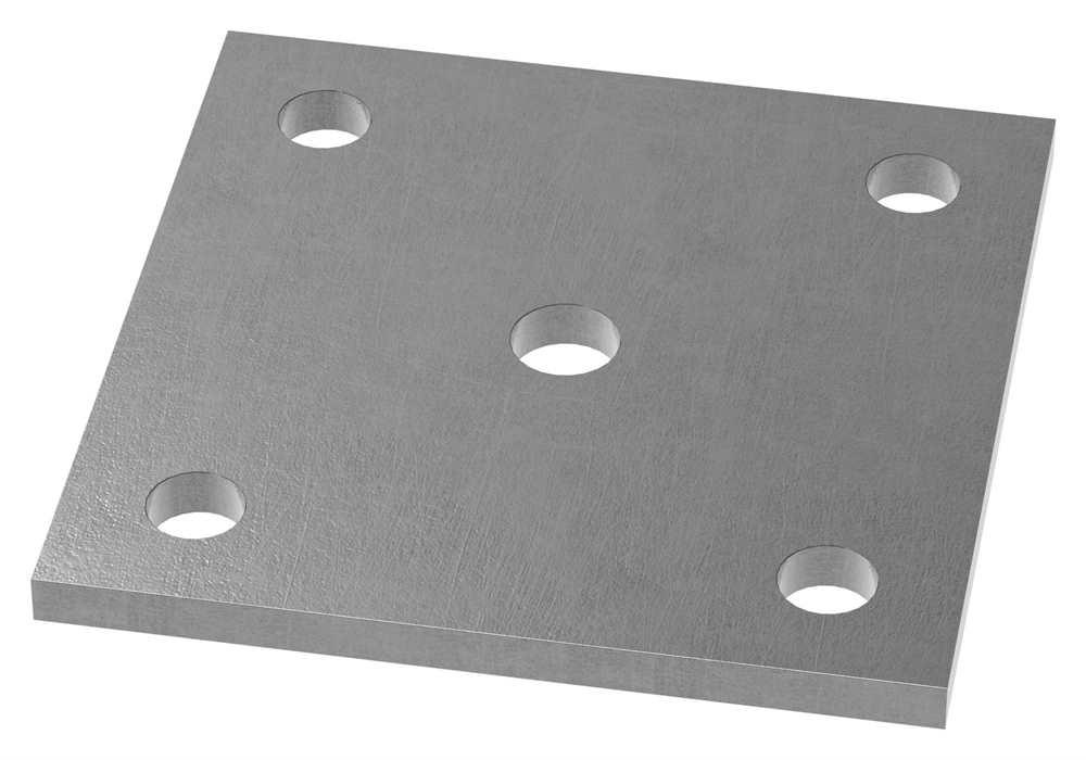 Ankerplatte   Maße: 100x100x6 mm   Stahl (Roh) S235JR