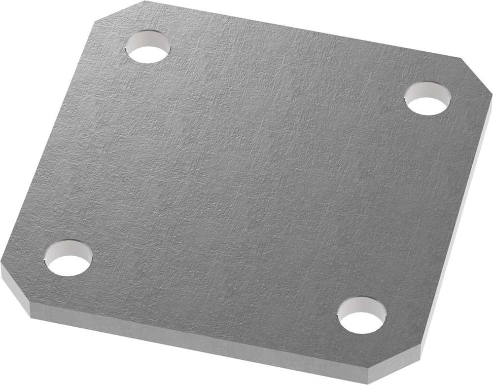 Ankerplatte   Maße: 120x120x8 mm   Stahl (Roh) S235JR