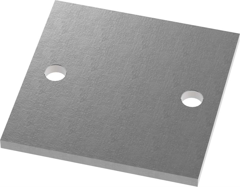 Ankerplatte   Maße: 150x150x10 mm   Stahl (Roh) S235JR
