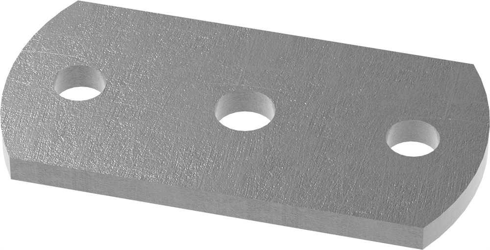 Ankerplatte   Maße: 100x50x6 mm   Stahl (Roh) S235JR