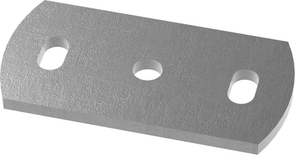 Ankerplatte   Maße: 120x60x8 mm   Stahl (Roh) S235JR