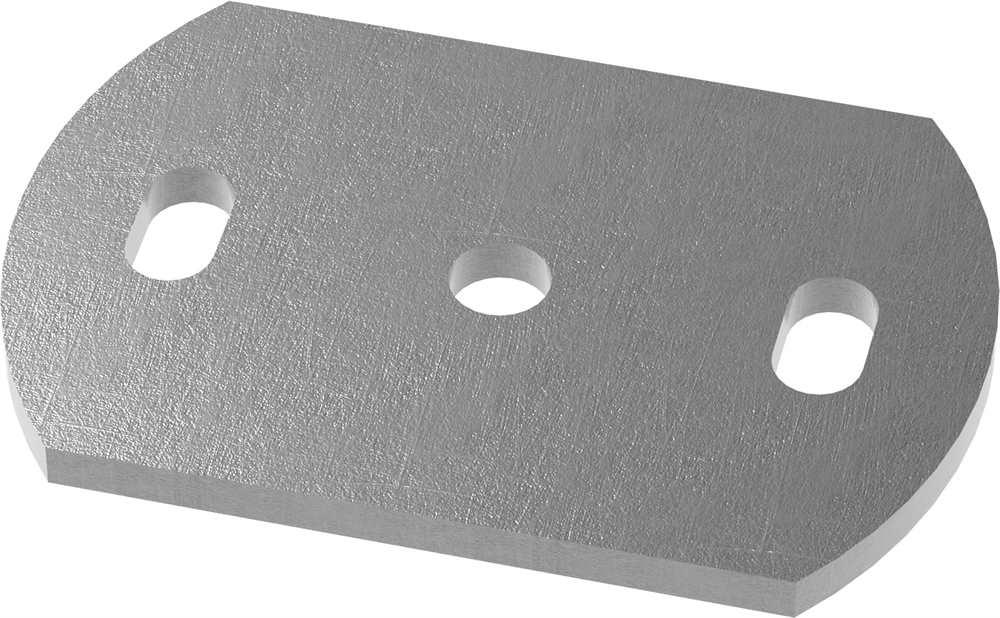 Ankerplatte   Maße: 120x80x10 mm   Stahl (Roh) S235JR