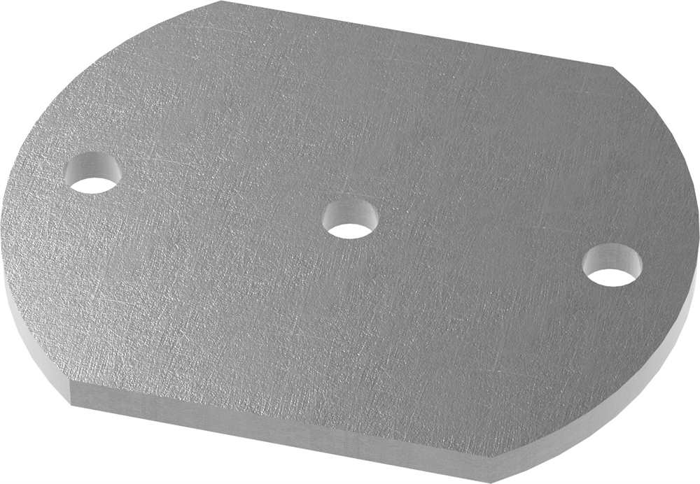 Ankerplatte   Maße: 150x120x8 mm   Stahl (Roh) S235JR