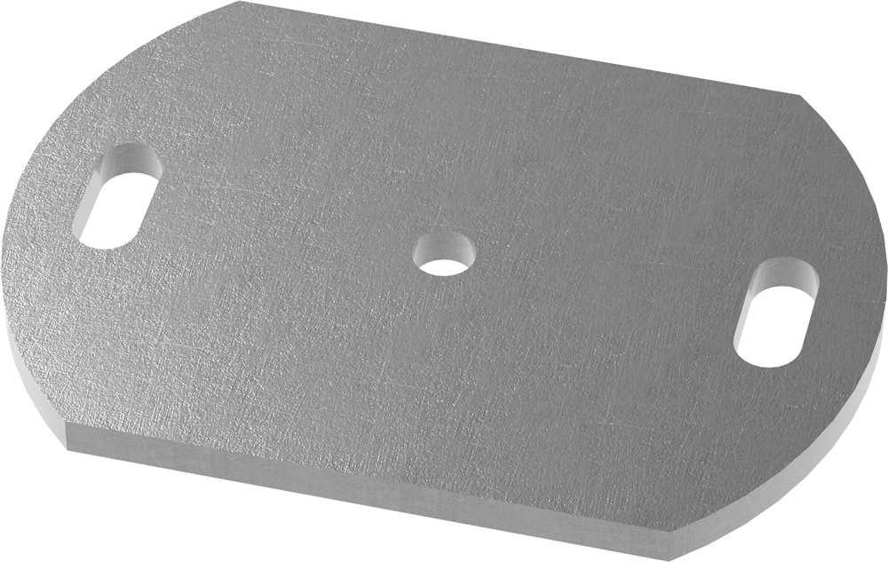 Ankerplatte   Maße: 170x100x8 mm   Stahl (Roh) S235JR
