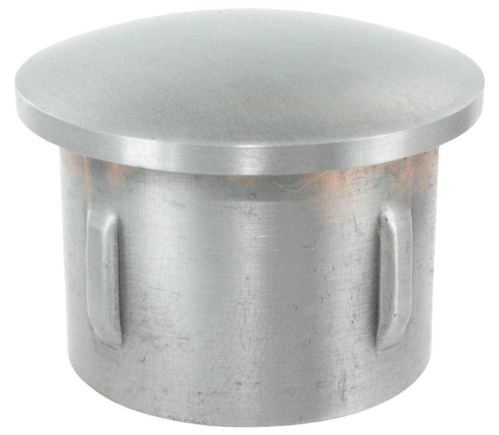 Stahlstopfen | leicht gewölbt | für Ø 33,7x1,8-2,2 mm | Stah S235JRl, roh