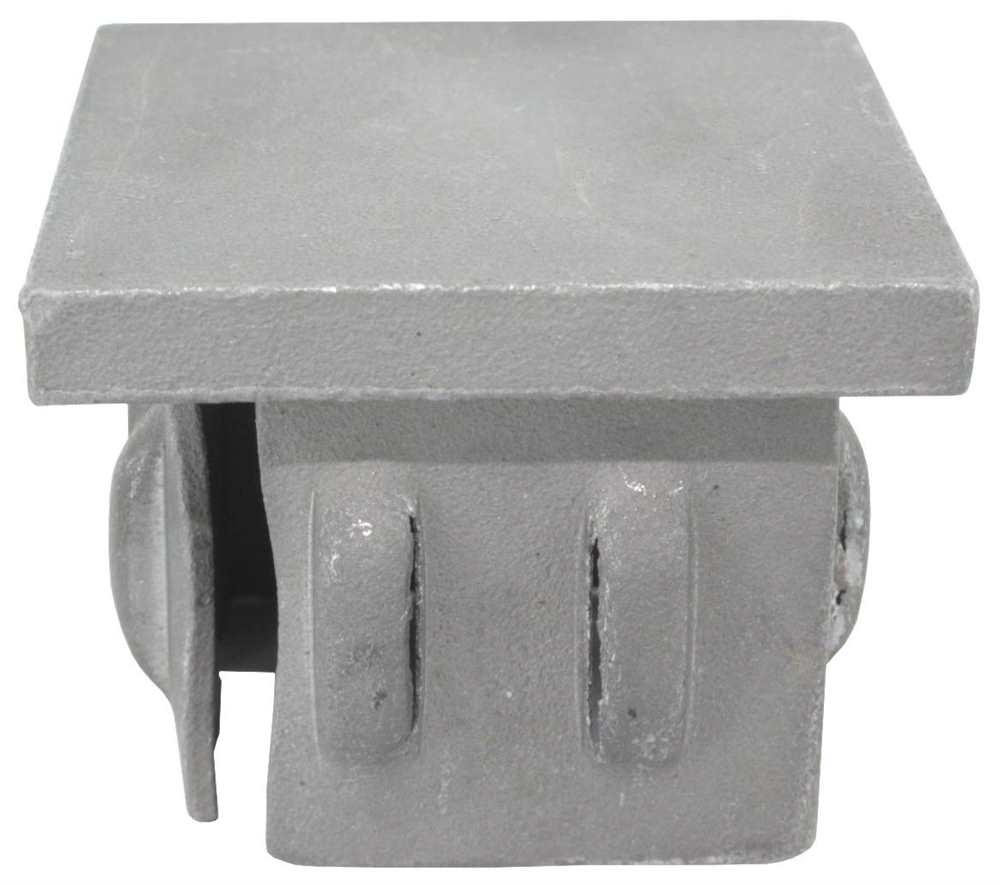 Stahlstopfen flach | für Rohr | 60x60x2,0-3,0 mm | Stahl S235JR, roh