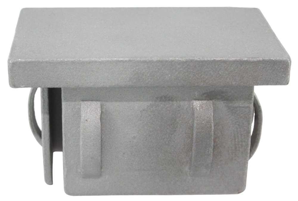 Stahlstopfen flach | für Rohr | 60x40x2,0-3,0 mm | Stahl S235JR, roh