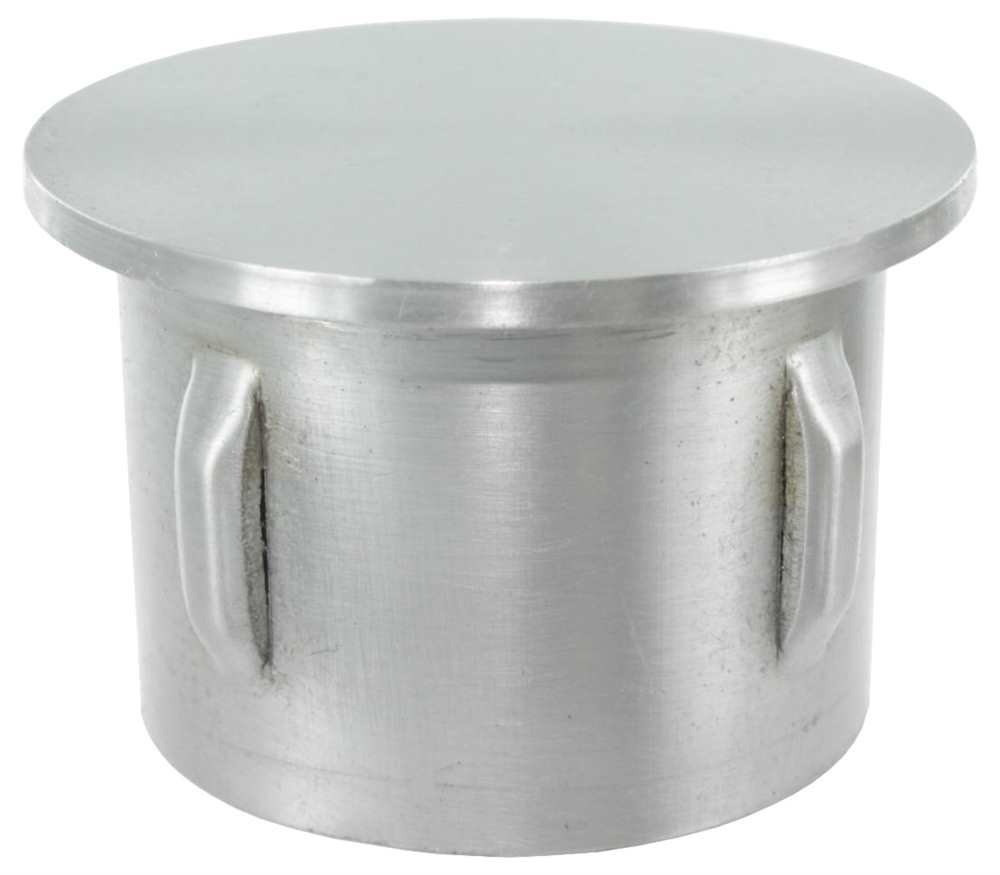 Stahlstopfen leicht gewölbt für Ø 42,4x3,0-3,5 mm   Stahl S235JR, roh