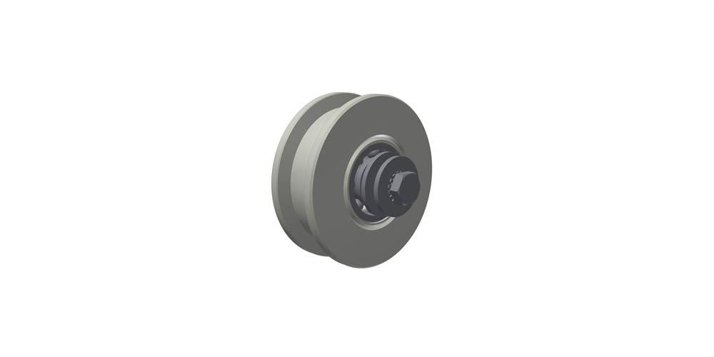 Laufrolle unten, einfach gelagert, Rollen- Ø 140 mm
