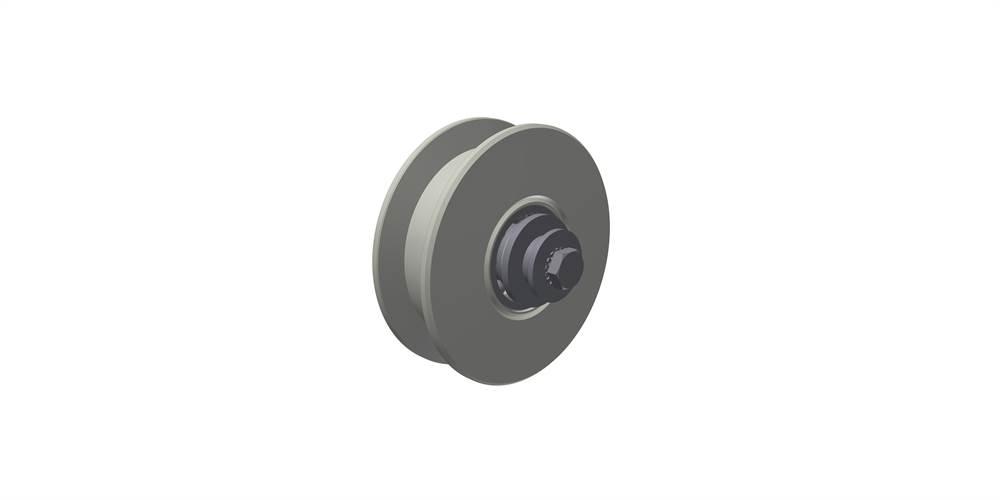 Laufrolle unten, einfach gelagert, Rollen- Ø 160 mm