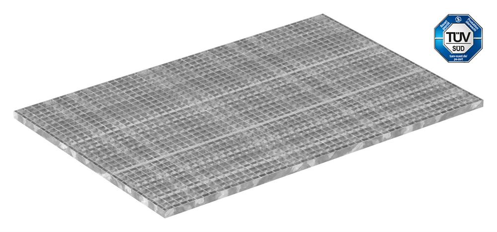 Industrie-Gitterrost | Maße: 1000x1500 mm; 30/30 mm; 30/2 mm | S235JR (St37-2), im Vollbad feuerverzinkt