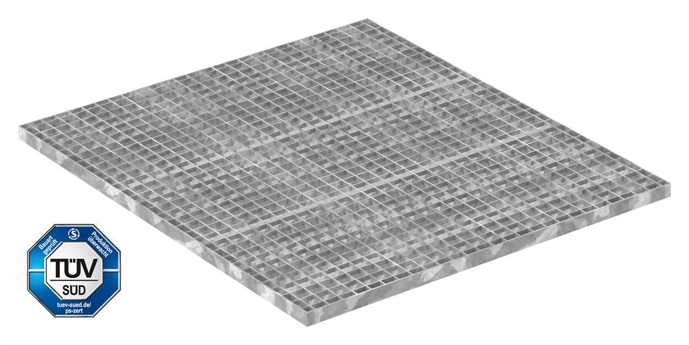 Industrie-Gitterrost | Maße: 1000x900 mm; 30/30 mm; 30/3 mm | S235JR (St37-2), im Vollbad feuerverzinkt