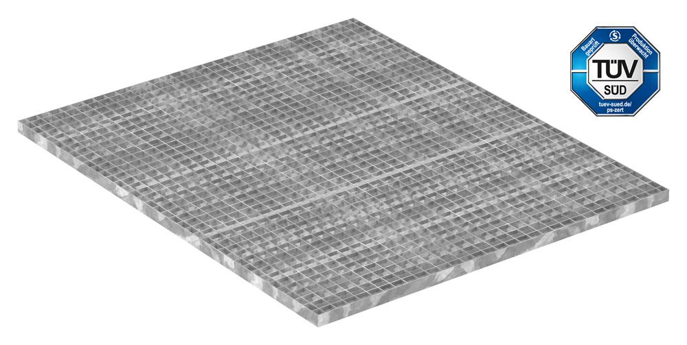 Industrie-Gitterrost | Maße: 1200x1000 mm; 30/30 mm; 30/2 mm | S235JR (St37-2), im Vollbad feuerverzinkt