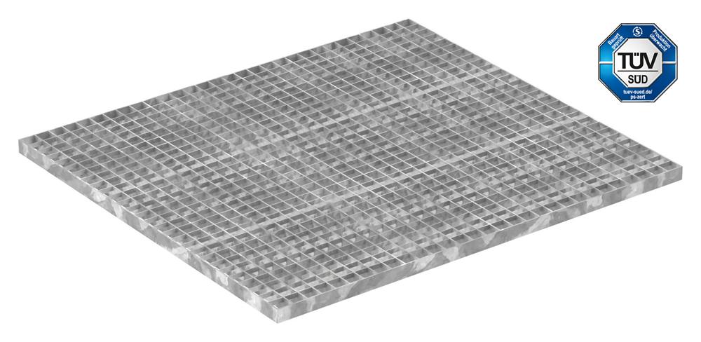 Industrie-Gitterrost | Maße: 900x1000 mm; 30/30 mm; 30/3 mm | S235JR (St37-2), im Vollbad feuerverzinkt