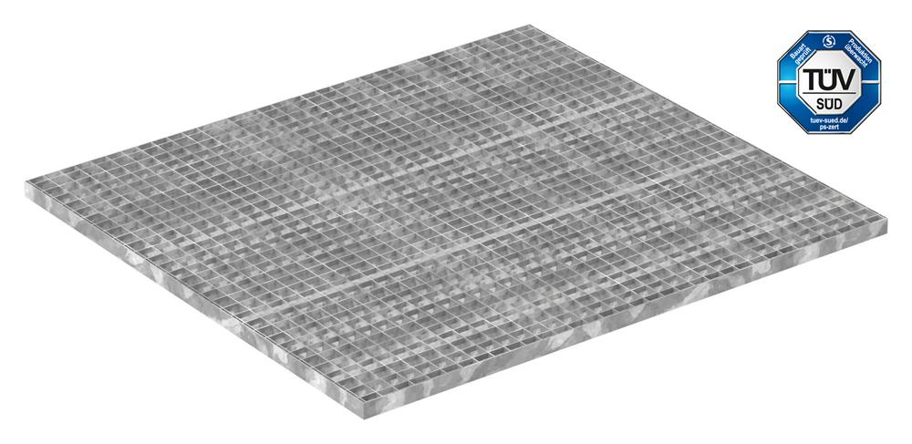 Industrie-Gitterrost | Maße: 1000x1100 mm; 30/30 mm; 30/2 mm | S235JR (St37-2), im Vollbad feuerverzinkt