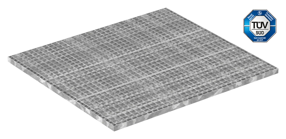 Industrie-Gitterrost | Maße: 1000x1100 mm; 30/30 mm; 30/3 mm | S235JR (St37-2), im Vollbad feuerverzinkt