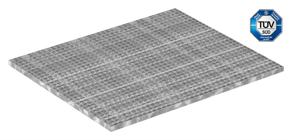 Industrie-Gitterrost | Maße: 1000x1200 mm; 30/30 mm; 30/2 mm | S235JR (St37-2), im Vollbad feuerverzinkt
