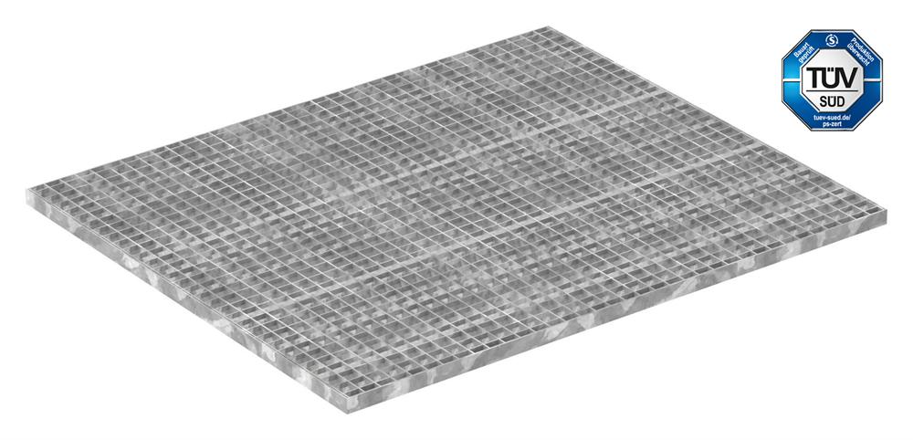 Industrie-Gitterrost | Maße: 1000x1200 mm; 30/30 mm; 30/3 mm | S235JR (St37-2), im Vollbad feuerverzinkt