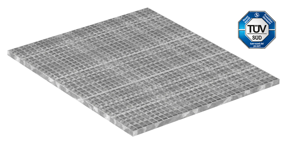 Industrie-Gitterrost | Maße: 1200x1000 mm; 30/30 mm; 30/3 mm | S235JR (St37-2), im Vollbad feuerverzinkt