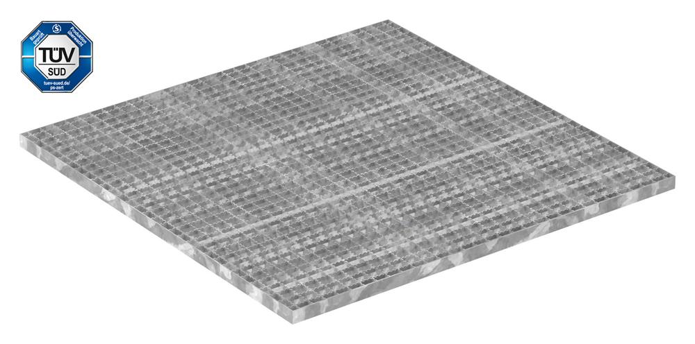 Industrie-Gitterrost   Maße: 800x1000 mm; 30/30 mm; 30/2 mm R12   S235JR (St37-2), im Vollbad feuerverzinkt
