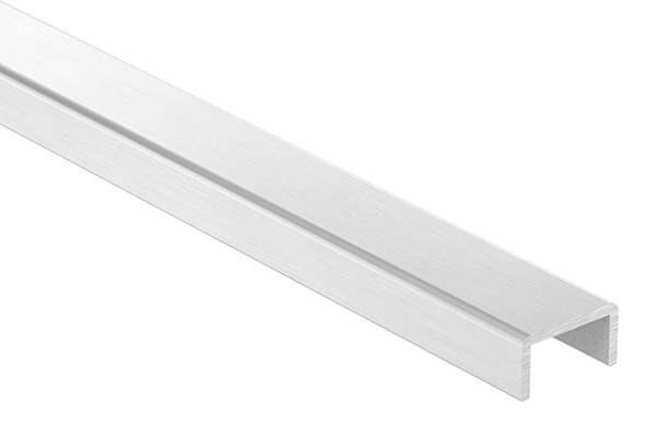Kantenschutz | Maße: 22x12x2 mm | Länge: 3000 mm | Aluminium elox. E4/EV1