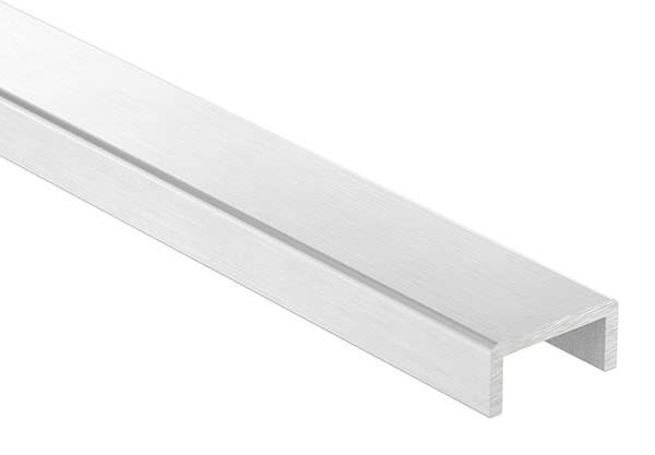 Kantenschutz | Maße: 30x14x3 mm | Länge: 3000 mm | Aluminium elox. E4/EV1