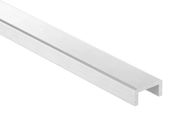 Kantenschutz | Maße: 24x12x3 mm | Länge: 3000 mm | Aluminium elox. E4/EV1