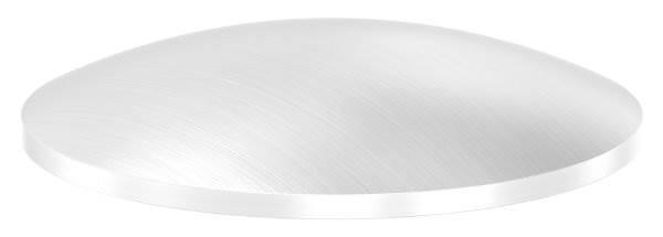 Klöpperboden | Ø 48,3x2,0 mm | gewölbt | einseitig geschliffen | V2A