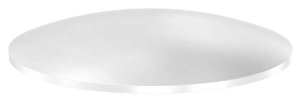 Klöpperboden | Ø 89x2,5 mm | gewölbt | einseitig geschliffen | V2A