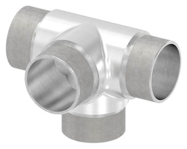 Kreuzstück mit unterschiedlichen Abgängen, für Rohr Ø 42,4x2,0 mm V2A