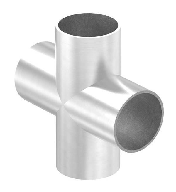 Kreuzstück zum Schweißen für Rundrohr Ø 48,3 mm V2A