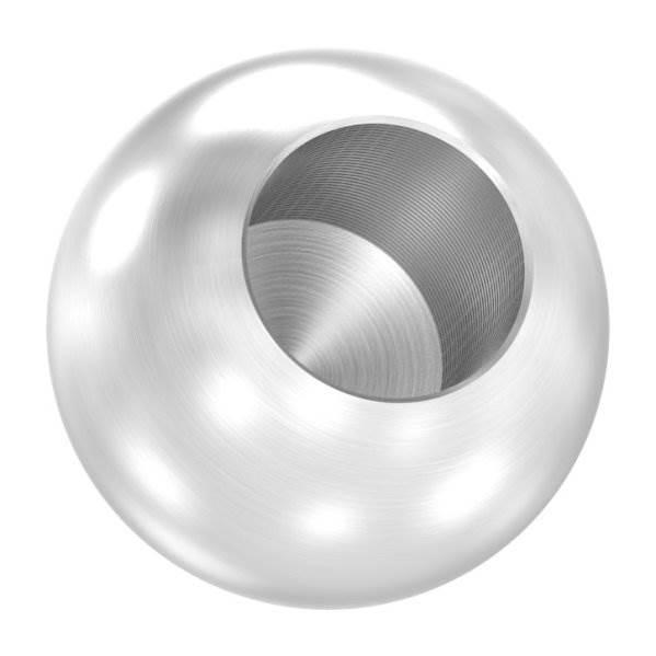 Kugel Ø 20 mm mit Sackloch 10,2 mm V2A Vollmaterial