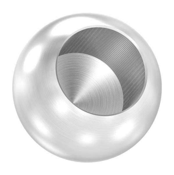 Kugel Ø 20 mm mit Sackloch 12,2 mm V2A Vollmaterial