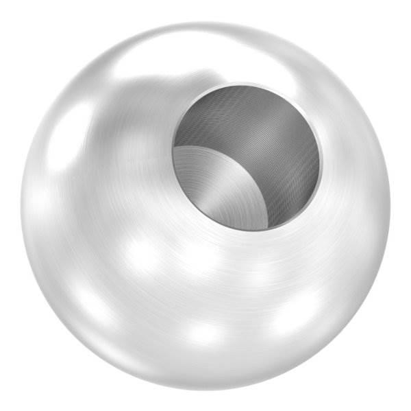 Kugel Ø 30 mm mit Sackloch 12,2 mm V2A