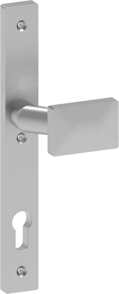 Alu-Türdrücker | Maße: 30x245x10 mm | Form: gekröpft | Aluminium EV1