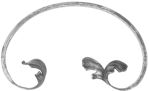 Leichtbarock | links |  Maße: 110x190 mm | Material: 12x5 mm | Stahl S235JR, roh