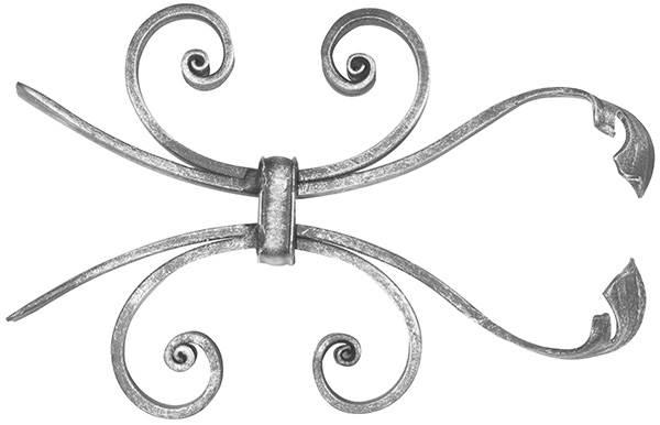 Leichtbarock | Maße: 170x260 mm | Material 12x5 mm | Stahl S235JR, roh