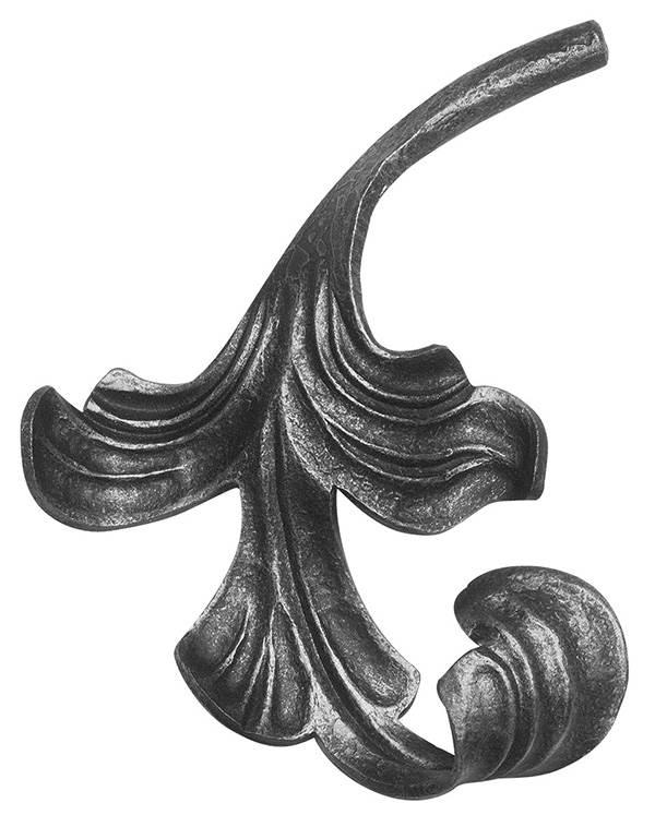 Ländliches Barock | Maße: 160x140 mm | Stahl S235JR, roh