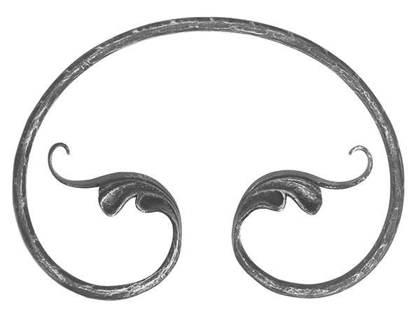 Ländliches Barock | Maße: 250x180 mm | Stahl S235JR, roh