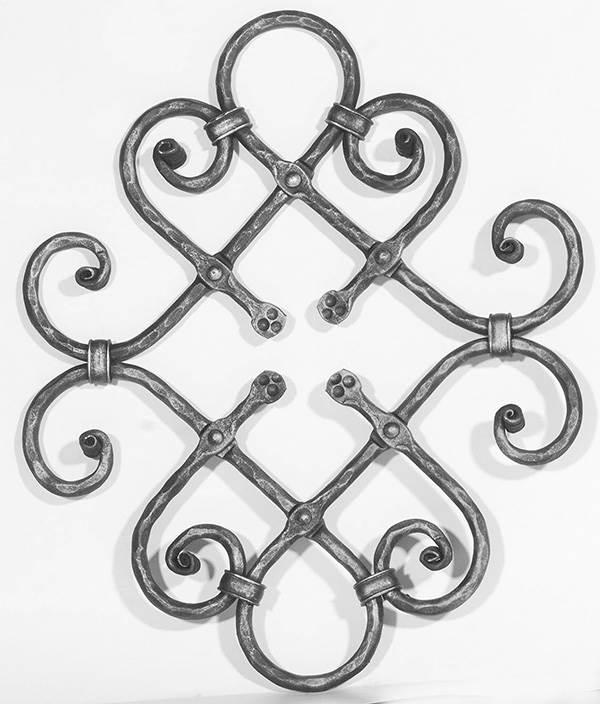 Ländliches Barock | Maße: 400x500 mm | Material: Ø 12 mm | Stahl S235JR, roh